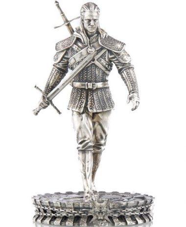 biały wilk wiedźmin moneta 10$ figurka mennica gdańska